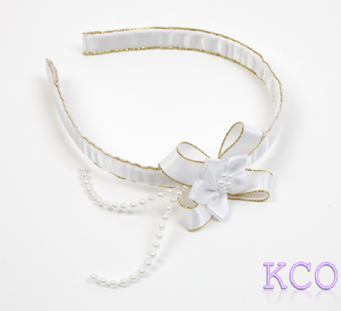 White/Gold~ Girls Alice Bands